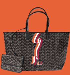 Goyard Black Banniere Saint Louis Tote Bag