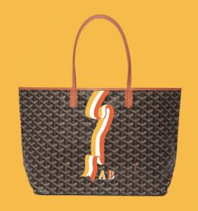 Goyard Black/Tan Banniere Saint Louis Tote Bag