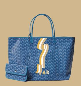 Goyard Light Blue Banniere Saint Louis Tote Bag