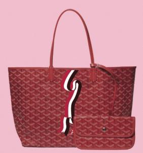 Goyard Red Banniere Saint Louis Tote Bag