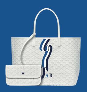 Goyard White Banniere Saint Louis Tote Bag