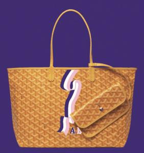 Goyard Yellow Banniere Saint Louis Tote Bag
