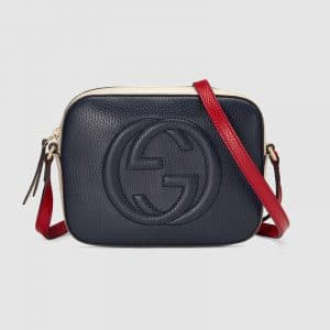 Gucci Blue/Red/White Soho Disco Bag