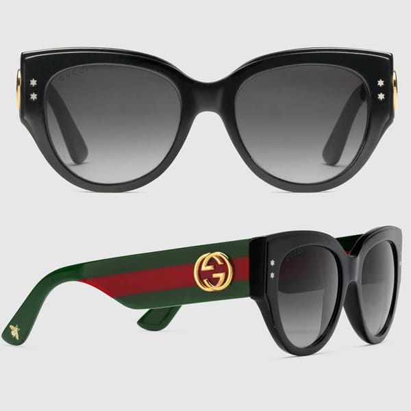 Cat Eye Acetate And Metal Sunglasses Gucci