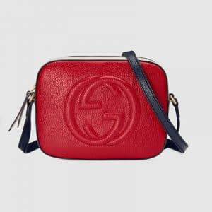 Gucci Red/Blue/White Soho Disco Bag