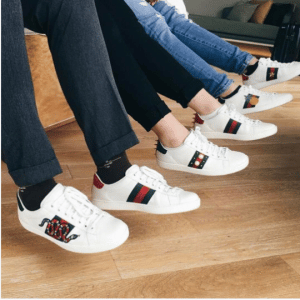 Gucci White Ace Low Top Sneakers