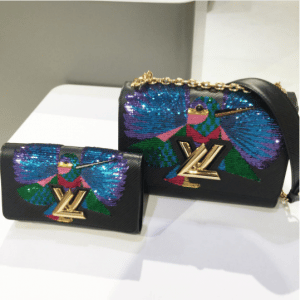 Louis Vuitton Black Bird Embroidered Twist Bag - Pre-Fall 2017