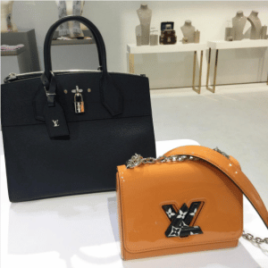 Louis Vuitton Black City Steamer and Tan Twist Bags - Pre-Fall 2017