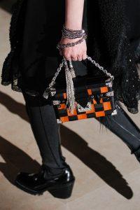 Louis Vuitton Black/Orange Checkered Petite Malle Bag - Fall 2017