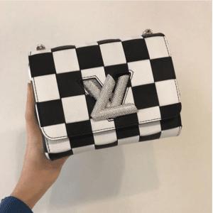 Louis Vuitton Black/White Checkered Twist Bag - Fall 2017