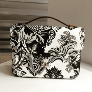 Louis Vuitton Black/White Floral Print Epi Pochette Metis Bag - Fall 2017