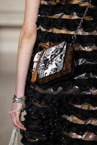 Louis Vuitton Black/White Floral Print and Monogram Canvas Mini Flap Bag - Fall 2017