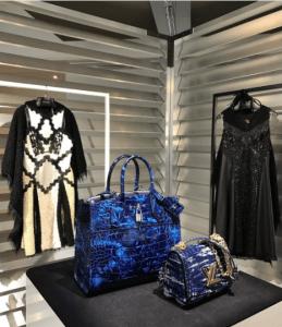 Louis Vuitton Blue Crocodile City Steamer and Twist Bags - Fall 2017