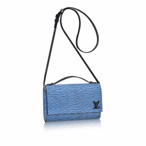 Louis Vuitton Blue Denim Epi Clery Bag