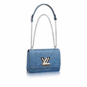Louis Vuitton Blue Denim Epi Twist GM Bag