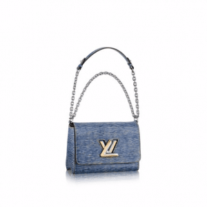 Louis Vuitton Blue Denim Epi Twist MM Bag