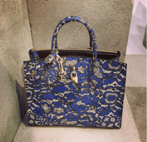 Louis Vuitton Blue/Gray Floral City Steamer Bag - Pre-Fall 2017