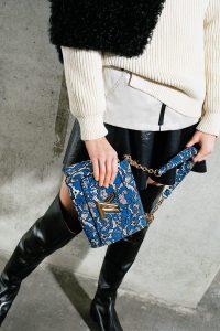 Louis Vuitton Blue/Gray Floral Twist Bag 2 - Pre-Fall 2017