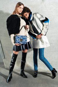 Louis Vuitton Blue/Gray Floral Twist Bag - Pre-Fall 2017