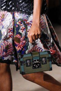 Louis Vuitton Green/Blue Petite Malle Bag - Fall 2017