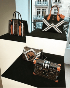 Louis Vuitton Monogram Canvas with Brogue Pattern City Steamer / Twist and Petite Malle Bags - Fall 2017