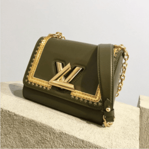 Louis Vuitton Olive Green with Gold Embroideries Twist Bag - Pre-Fall 2017