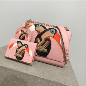 Louis Vuitton Pink Toucan Print Twist Bag - Pre-Fall 2017