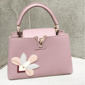 Louis Vuitton Pink with Floral Applique Capucines Bag - Pre-Fall 2017