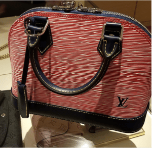 Louis Vuitton Red Denim Epi Alma BB Bag 2