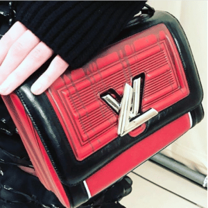 Louis Vuitton Red/Black Leather Embossed Twist Bag - Fall 2017