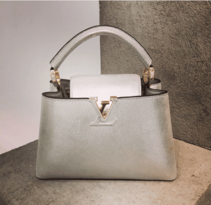 Louis Vuitton Silver Capucines Bag - Pre- Fall 2017