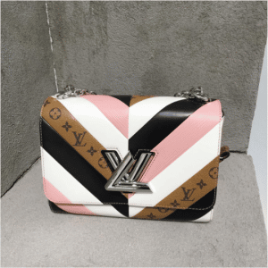 Louis Vuitton White/Pink/Black and Monogram Reverse Twist Bag - Pre-Fall 2017