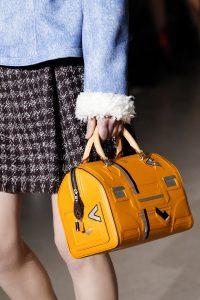 Louis Vuitton Yellow Printed Speedy Bag - Fall 2017