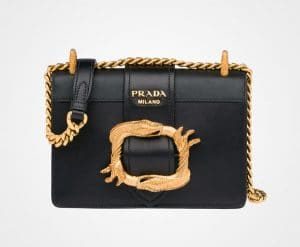 Prada Black Animalier Cahier Bag