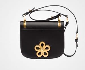 Prada Black Embellished Pionniere Bag