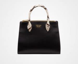 Prada Black/Light Grey Leather:Ayers Paradigme Bag