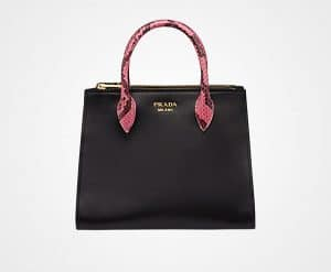 Prada Black/Pale Rose Leather:Ayers Paradigme Bag