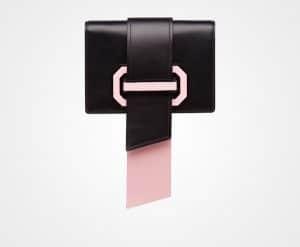 Prada Black/Pink Plex Ribbon Bag