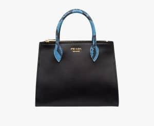 Prada Black/Sea Blue Leather:Ayers Paradigme Bag