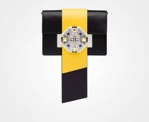 Prada Black/Sun Jewels Ribbon Bag