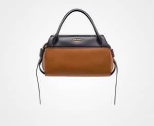 Prada Cognac/Black Bowling Ribbon Bag
