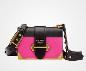 Prada Fuchsia/Black Cahier Bag
