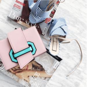 Prada Pink/Blue Plex Ribbon Bag 2