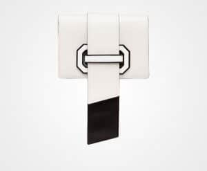 Prada White/Black Plex Ribbon Bag