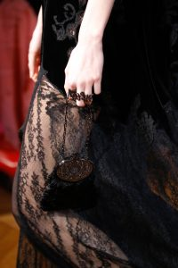 Valentino Black Feather Embellished Mini Purse Bag 2 - Fall 2017