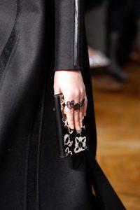 Valentino Black Floral Printed Clutch Bag - Fall 2017