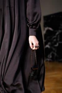Valentino Black Leather Embellished Lipstick Holder - Fall 2017