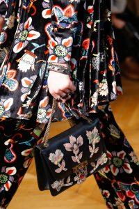 Valentino Black/Multicolor Floral Embellished Flap Bag - Fall 2017