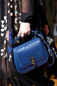 Valentino Blue Crocodile Saddle Bag - Fall 2017