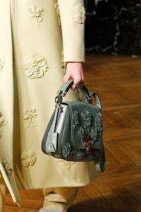 Valentino Green Floral Embellished Saddle Bag - Fall 2017